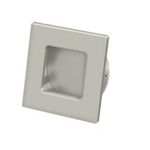 Deltana FPS234 Solid Brass Heavy Duty Square Flush Pull Satin Nickel