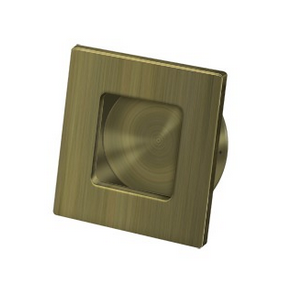Deltana FPS234 Solid Brass Heavy Duty Square Flush Pull Antique Brass