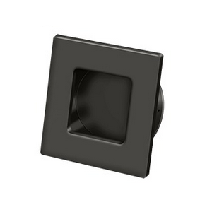 Deltana FPS234 Solid Brass Heavy Duty Square Flush Pull Oil rubbed Bronze