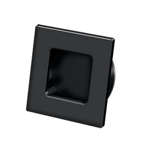 Deltana FPS234 Solid Brass Heavy Duty Square Flush Pull Paint Black
