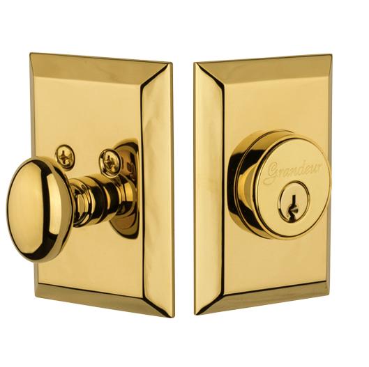 Granduer Fifth Avenue Single Cylinder Deadbolt Lifetime Brass (LB)