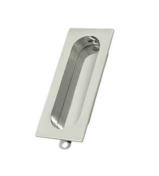 Deltana FP222-14 Rectangular Flush Pull Polished Nickel