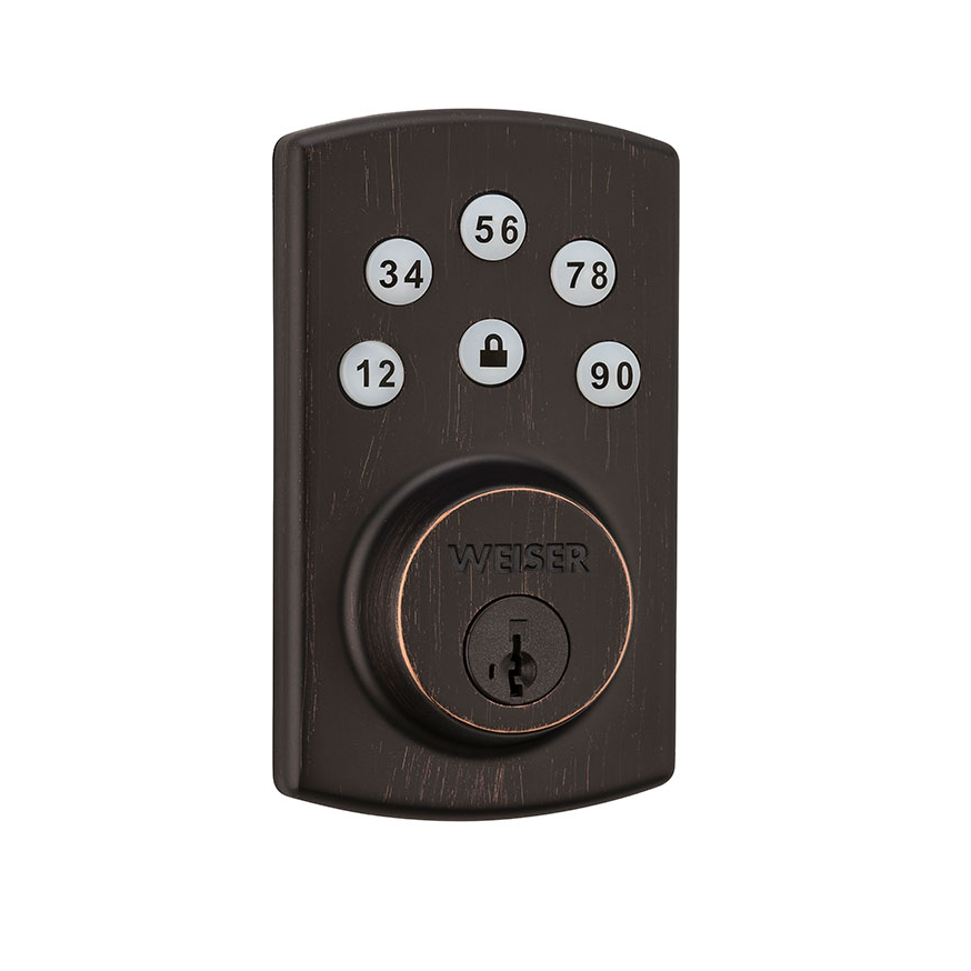 Weiser GED1460X2-11Ps Powerbolt 2 Touchpad Electronic Deadbolt with SmartKey
