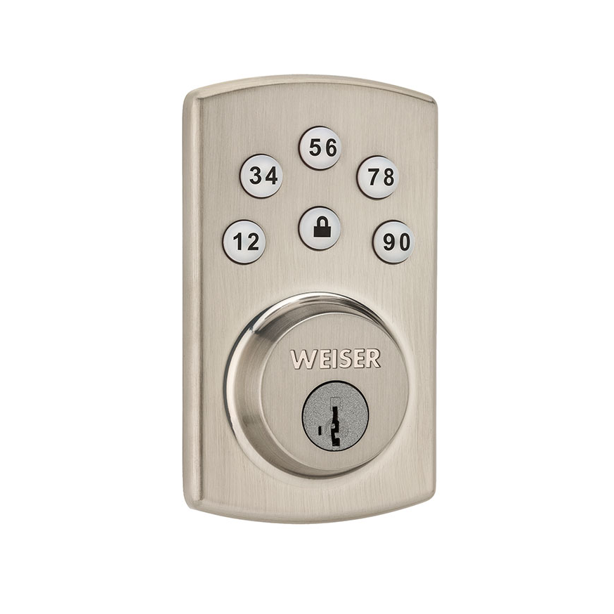 Weiser GED1460X2-15s Powerbolt 2 Touchpad Electronic Deadbolt with SmartKey