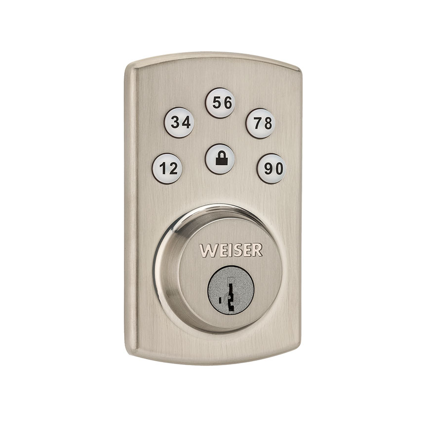 Weiser GED1460X2-26Ds Powerbolt 2 Touchpad Electronic Deadbolt with SmartKey