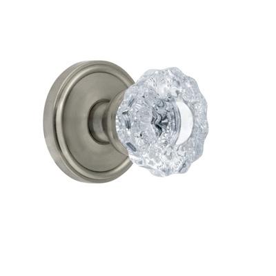 Grandeur Versailles Knob with Georgetown Rose Satin Nickel