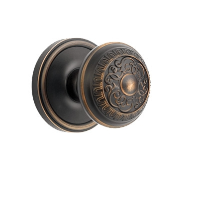 Grandeur Windsor Knob with Georgetown Rose Timeless Bronze