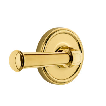 Grandeur Georgetown Lever Set with Georgetown Rose Polished Brass