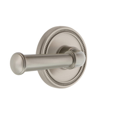 Grandeur Georgetown Lever Set with Soleil rose Satin Nickel