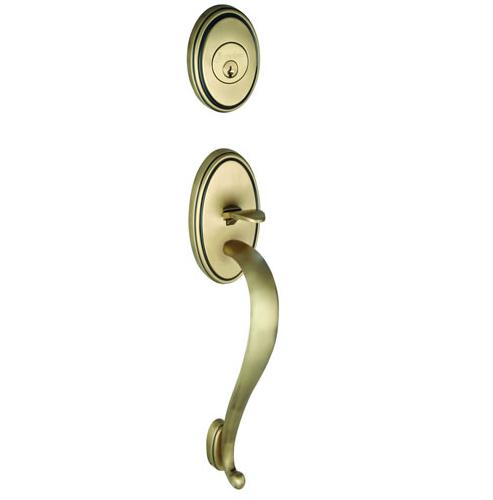 Grandeur Georgetown Handleset shown in Vintage Brass
