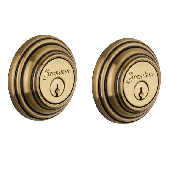 Grandeur Georgetown Double Cylinder Deadbolt Vintage Brass (VB)