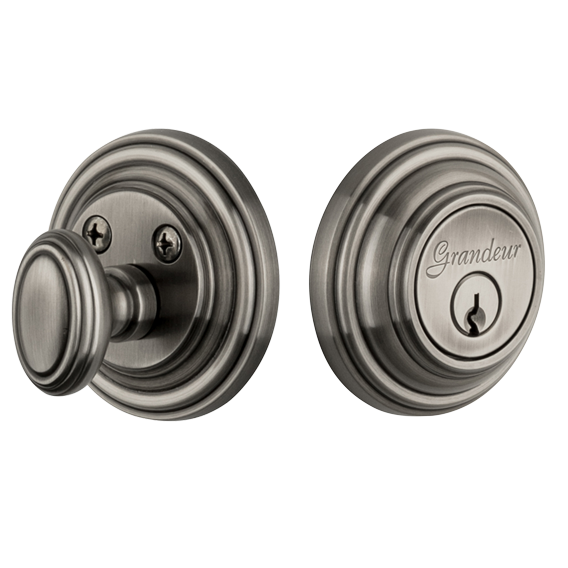 Grandeur Georgetown Single Cylinder Deadbolt Antique Pewter (AP)