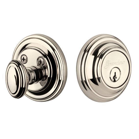 Grandeur Georgetown Single Cylinder Deadbolt Polished Nickel (PN)