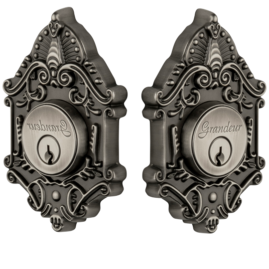Grandeur Grande Victorian Double Cylinder Deadbolt Antique Pewter