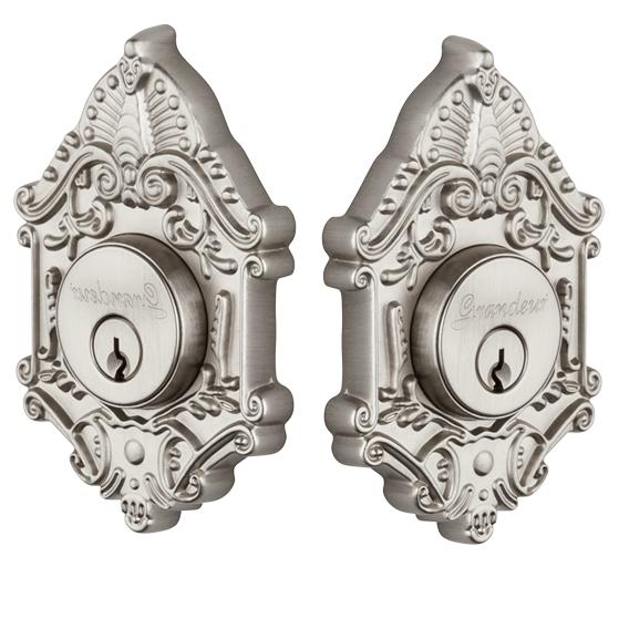 Grandeur Grande Victorian Double Cylinder Deadbolt (SN) Satin Nickel