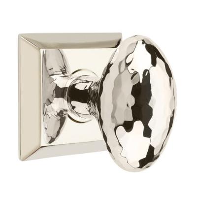 Emtek 8131 Hammered Egg Door Knob Set Polished Nickel