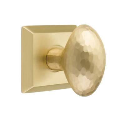 Emtek 8131 Hammered Egg Door Knob Set Satin Brass
