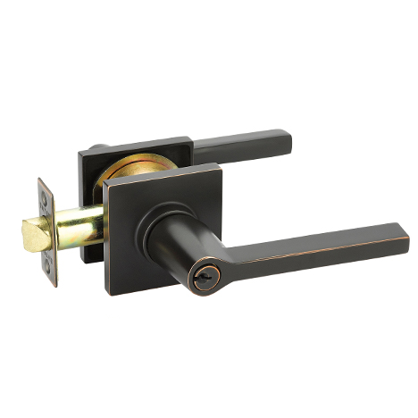 Emtek Helios 5122 Key in Lever with Square Rose in Oil Rubbed Bronze