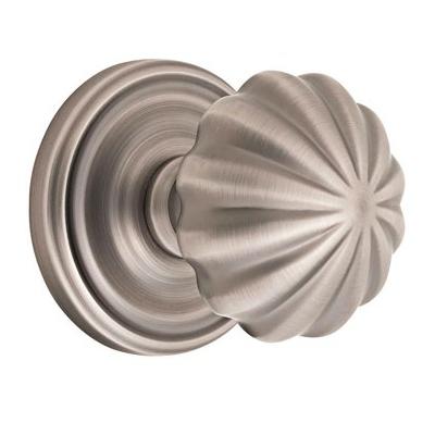 Emtek Melon Door knob with Regular rose Pewter (15A)
