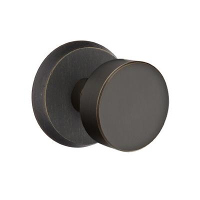 Emtek Sandcast Bronze Round Door Knob Set | Low Price Door Knobs