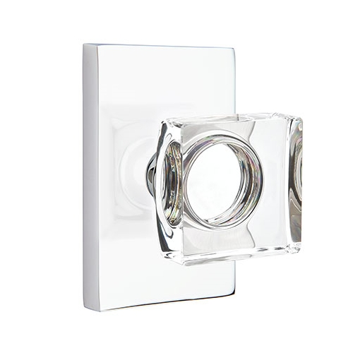 Emtek Modern Square Crystal Door Knob Set Low Price Door