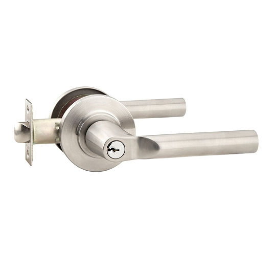Emtek Hanover Stainless Steel Keyed Entry Door Lever Set