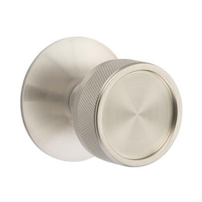 Emtek Select Knurled Door Knob Set with Conical Stem Modern Rose Satin Nickel