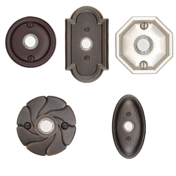 Emtek 2411, 2412, 2414, 2415, 2417 Lost Wax Cast Bronze Door Bells