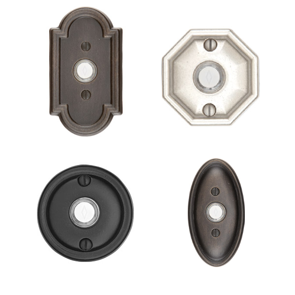 Emtek 2411, 2412, 2414, 2415 Lost Wax Cast Bronze Door Bells