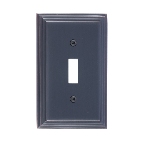 Brass Accents M02-S2500-613VB Classic Steps Single Switch Plate