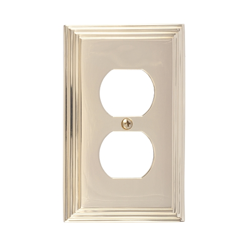 Brass Accents M02-S2510-603 Classic Steps Single Outlet Plate