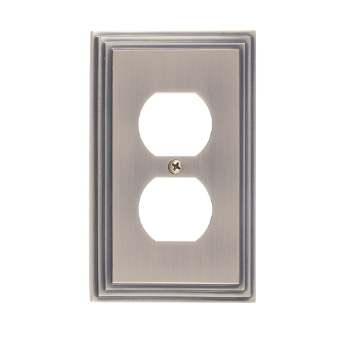 Brass Accents M02-S2510-609 Classic Steps Single Outlet Plate