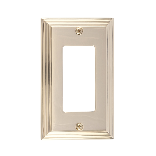 Brass Accents M02-S2520-605 Classic Steps Single GFCI Switch Plate