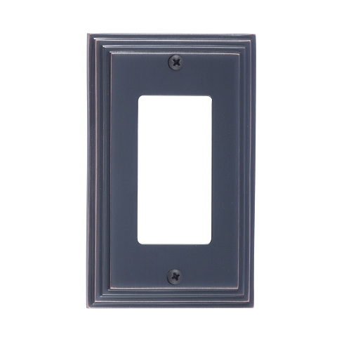 Brass Accents M02-S2520-613VB Classic Steps Single GFCI Switch Plate