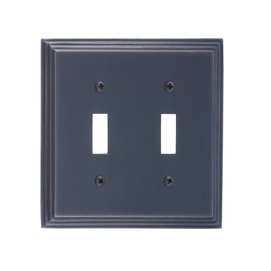 Brass Accents M02-S2530-613VB Classic Steps Double Switch Plate