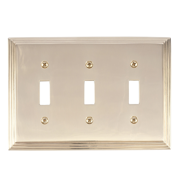 Brass Accents M02-S2550-605 Classic Steps Triple Switch Plate