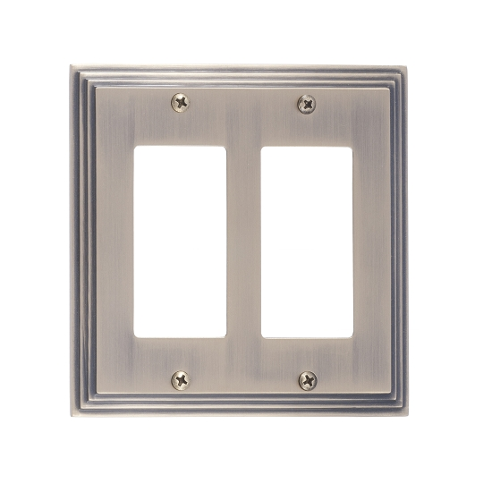 Brass Accents M02-S2570-609 Classic Steps Double GFCI Switch Plate