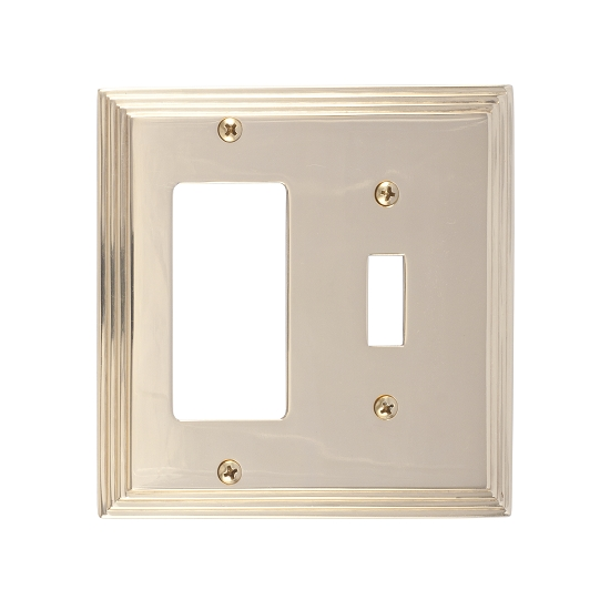 Brass Accents M02-S2571-605 Classic Steps Double-Single Switch and Single GFCI