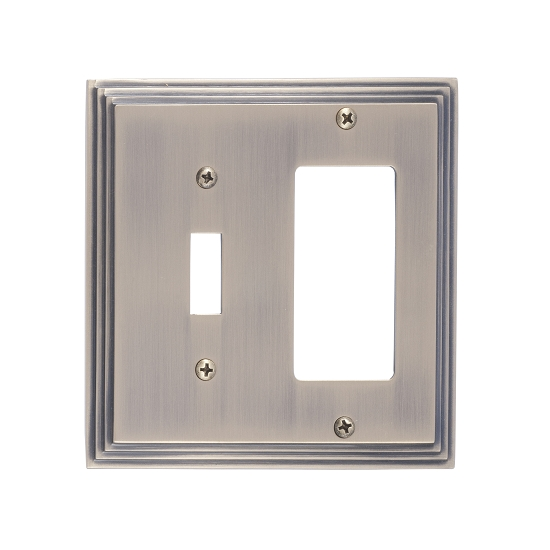 Brass Accents M02-S2571-609 Classic Steps Double-Single Switch and Single GFCI