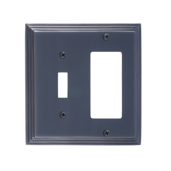 Brass Accents M02-S2571-613V Classic Steps Double-Single Switch and Single GFCI