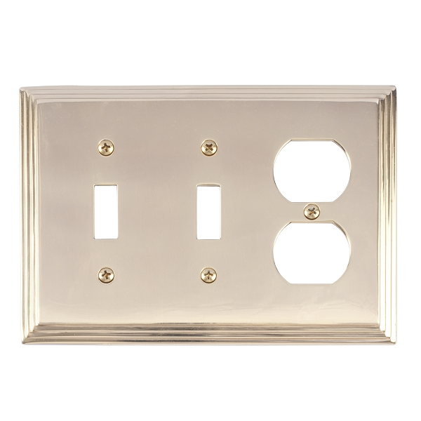 Brass Accents M02-S2580-605 Classic Steps Triple-Double Switch and Single Outlet