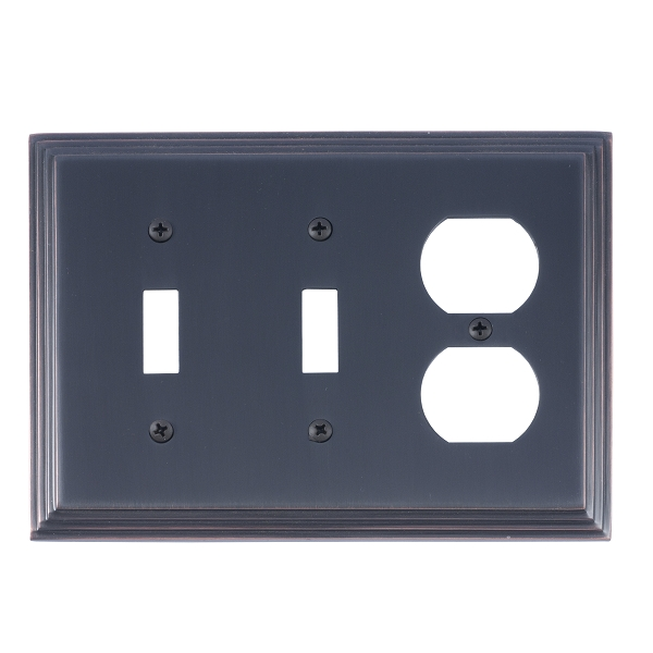 Brass Accents M02-S2580-613 Classic Steps Triple-Double Switch and Single Outlet