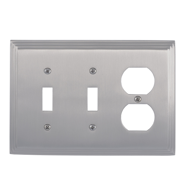 Brass Accents M02-S2580-619 Classic Steps Triple-Double Switch and Single Outlet