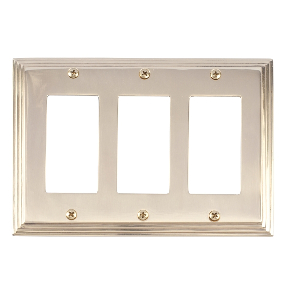 Brass Accents M02-S2590-605 Classic Steps Triple GFCI Switch Plate