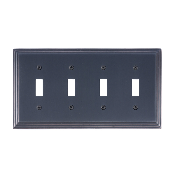 Brass Accents M02-S2591-613VB Classic Steps Quad Switch Plate