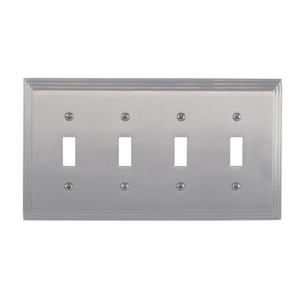 Brass Accents M02-S2591-619 Classic Steps Quad Switch Plate