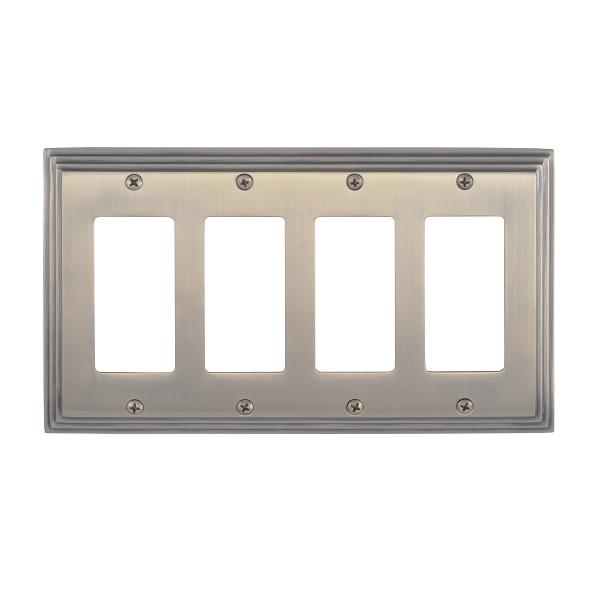 Brass Accents M02-S2592-609 Classic Steps Quad GFCI Switch Plate