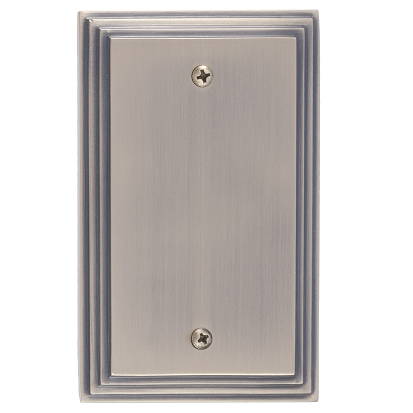 Brass Accents M02-S25X0-609 Classic Steps Single Blank Plate