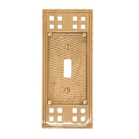 Brass Accents M05-S5600 Arts and Crafts Single Switch Plate
