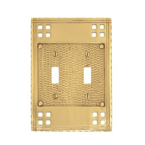 Brass Accents M05-S5630 Arts and Crafts Double Switch Plate